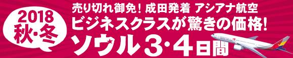 成田発着アシアナ航空利用ビジネスクラスで行くソウル3・4日間